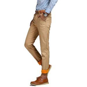 PARKA Pantalon Homme Plus Velours épais Slim Décontracté