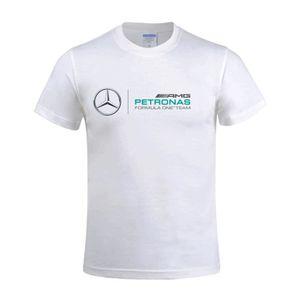 CHEMISE - CHEMISETTE T-shirt Homme Mercedes Benz AMG F1 logo Manches co