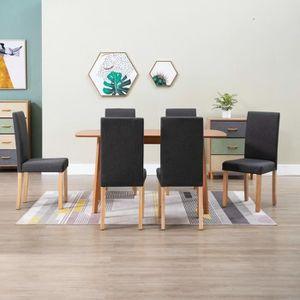 CHAISE Lot de 6 Chaises de salle à manger Scandinave Cont