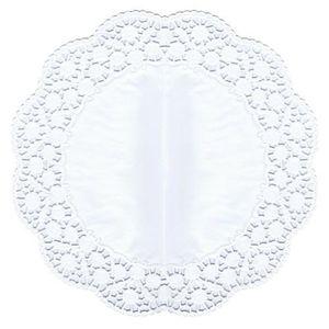 NAPPE DE TABLE Napperons dentelles, gâteaux rond Ø 36 cm blanc