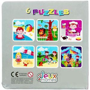 PUZZLE Livre 6 Puzzles Jouet Enfant Eveil Tom Et Zoe Bus