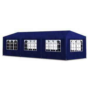 TONNELLE - BARNUM Tonnelle de jardin/Tente de réception 8 murs Bleu
