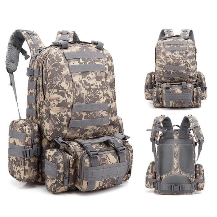 55L Molle Outdoor Bag Camping Randonnée Trekking Sac à dos BRF90606009A_7274