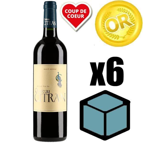 X6 Château Citran 2009 75 cl AOC Haut Medoc Rouge Vin Rouge