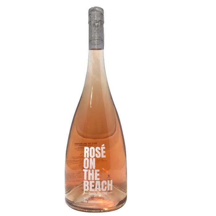 ROSE ON THE BEACH Magnum 150cl Cuvée Prestige - Le Vin Rosé des Plages -Vin rosé AOP Corbières 2017