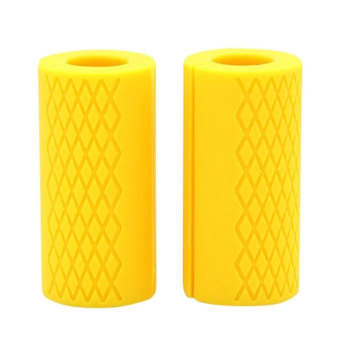 Poignées d'haltères, 1 paire, Kettlebell Fat Grip, poignées de barre épaisse, Support d'haltérophilie, antidérapant [35BB463]