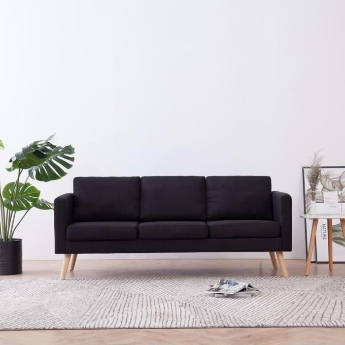 Canapé à 3 places Canapé de relaxation Haut de gamme & Confortable - Sofa Canapé droit Salon Tissu ®CUXFEN®