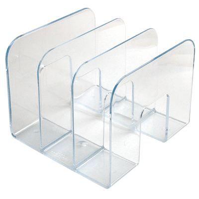Porte catalogue 3 compartiments transparents