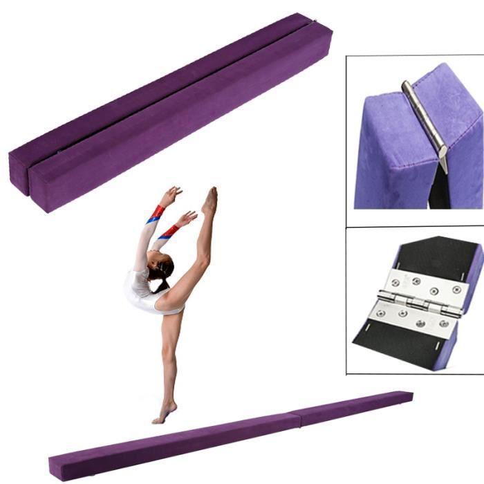 7FT Poutre d'équilibre de Gymnastique Pliable Équipement de Formation pour les débutants de la gymnastique (violet) -JNG