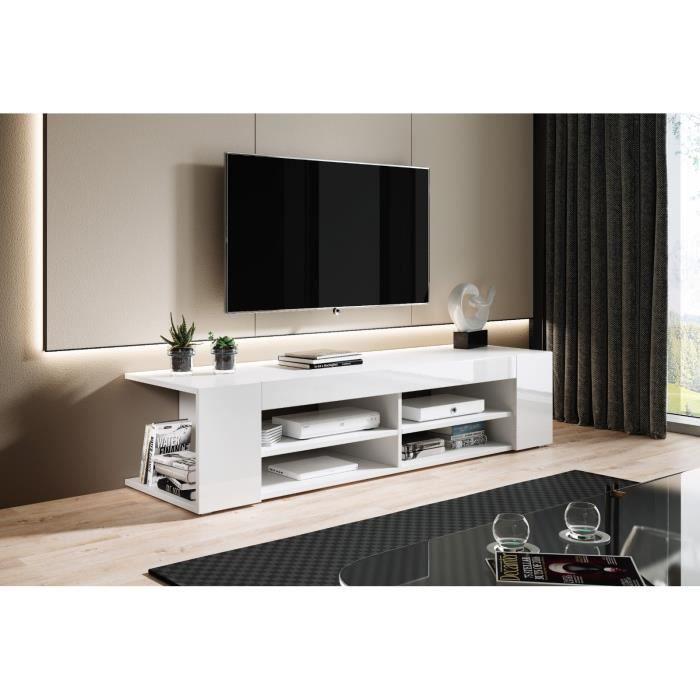 e-Com - Nova Meuble TV - 140 cm - Blanc