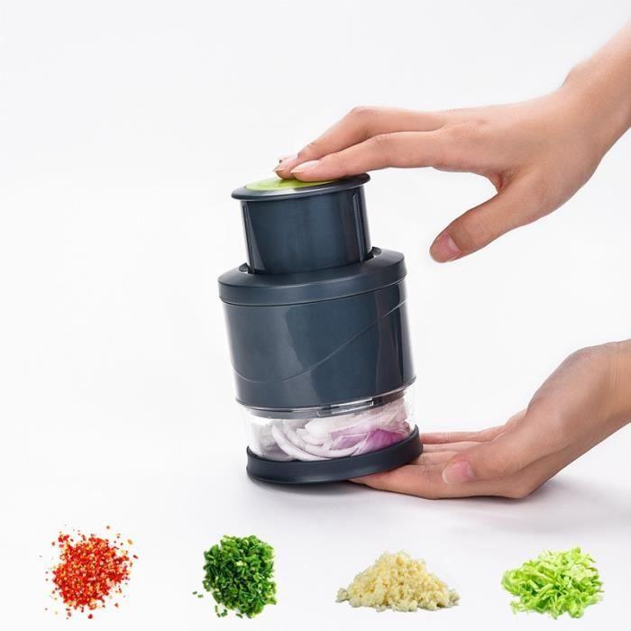 Hachoir manuel,Trancheuse manuelle pour légumes et fruits Hachoir manuel oignon ail à pression manuelle, trancheuse pour légumes et