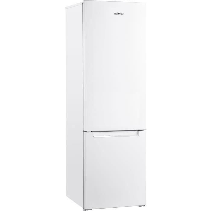 BRANDT BSC7507W - Réfrigérateur combiné 264 L (199L + 65L) - Froid statique - L 55 cm x H 176 cm - Blanc