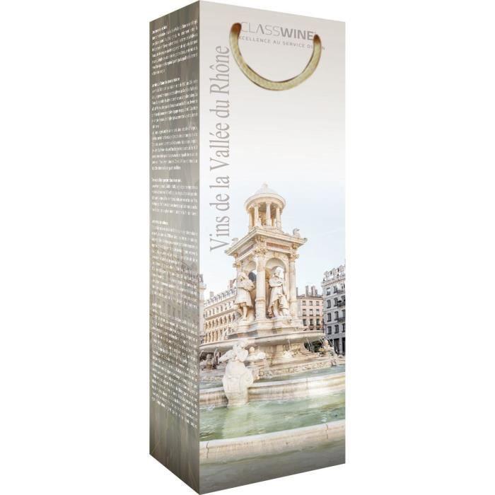 CLASSWINE Pochette pour 1 bouteille vin des Côtes du Rhône Fontaine