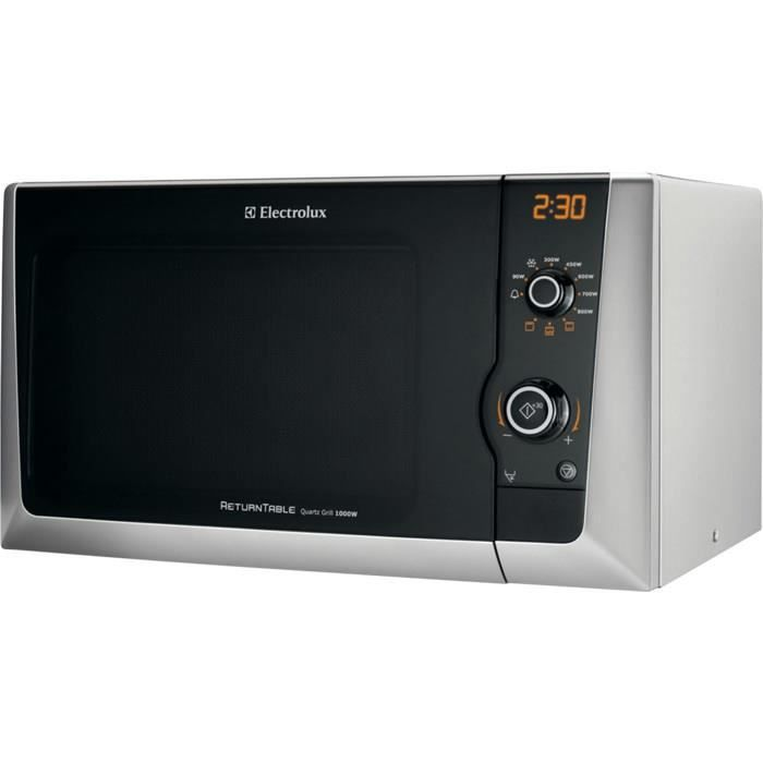 Electrolux EMS21400S, Comptoir, Micro-ondes grill, 21,23 L, 800 W, boutons, Rotatif, Argent