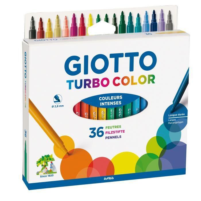 GIOTTO Étui accrochable de 36 Feutres Turbo Color