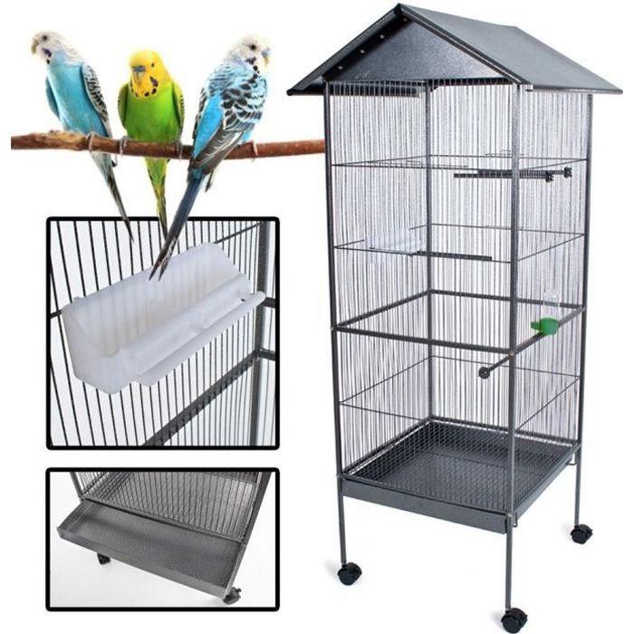POILS & PLUMES OISEAU Cage à oiseau KUIKUI en métal - Hauteur 155 cm
