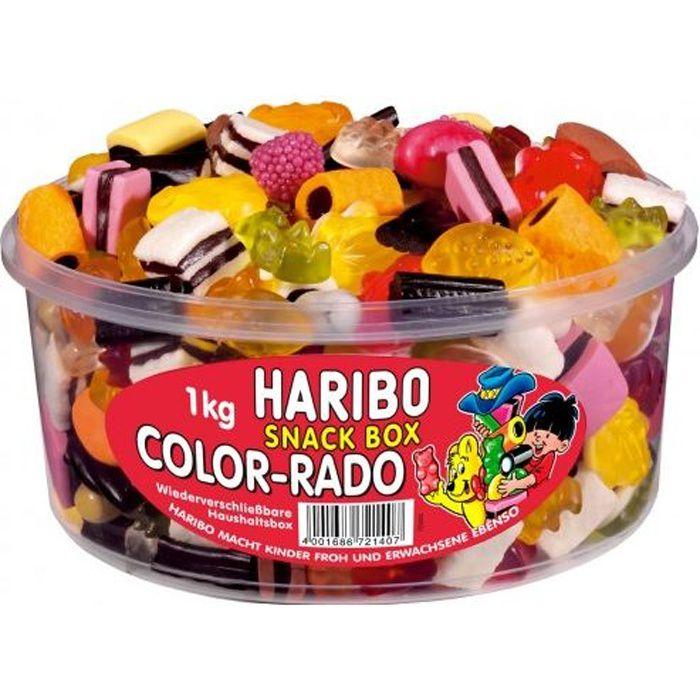 Haribo Color-Rado fruit gommes réglisse 1 kg