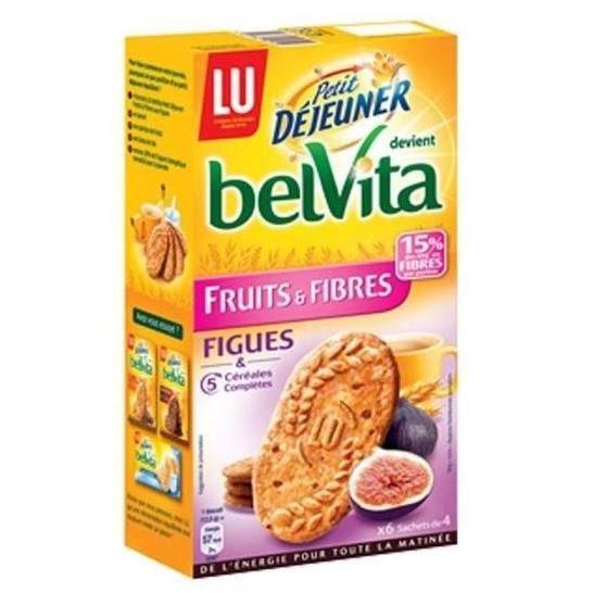 Belvita biscuits petit déjeuner fruits & fibres aux figues 300g