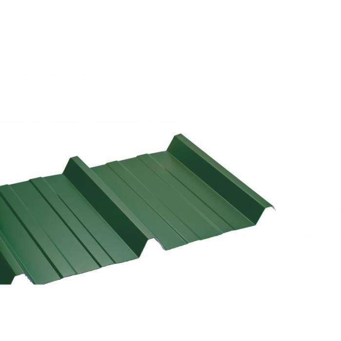 Bac acier laqué 1045 50-100 - L: 200 cm - l: 105 cm - Vert 6009
