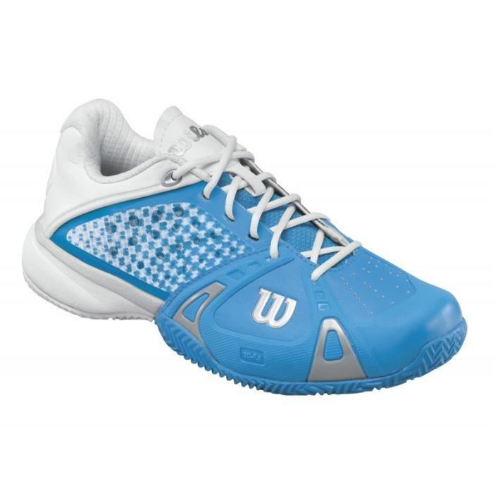 Chaussures WILSON Femme Rush Pro CC W Bleu / Blanc