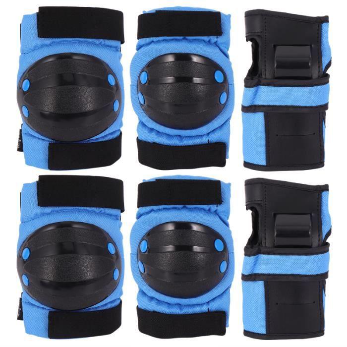 6pcs genouillères épaissies coudières protège-mains enfants ensemble d'équipement de protection PATIN A ROULETTE - PATIN QUAD