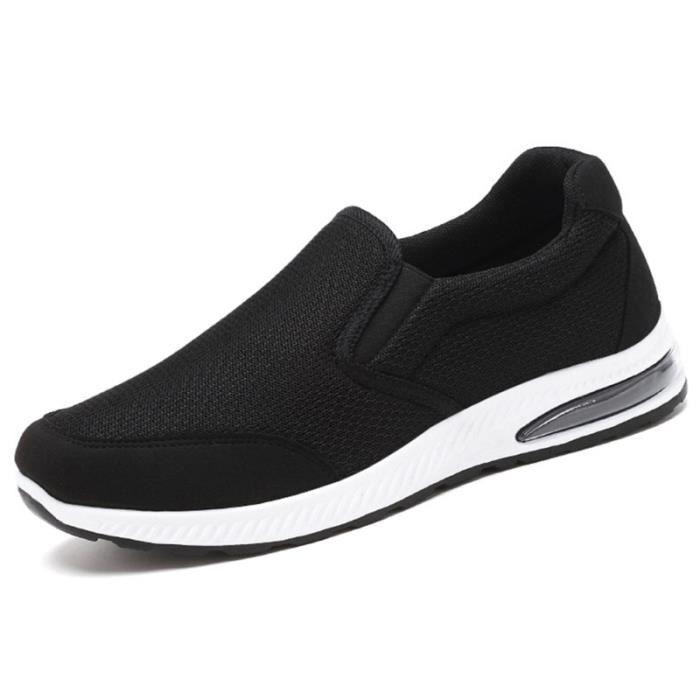 Chaussures de loisirs de sport respirantes de course en maille confortables de pour femmes (noir, taille 38) BASKET