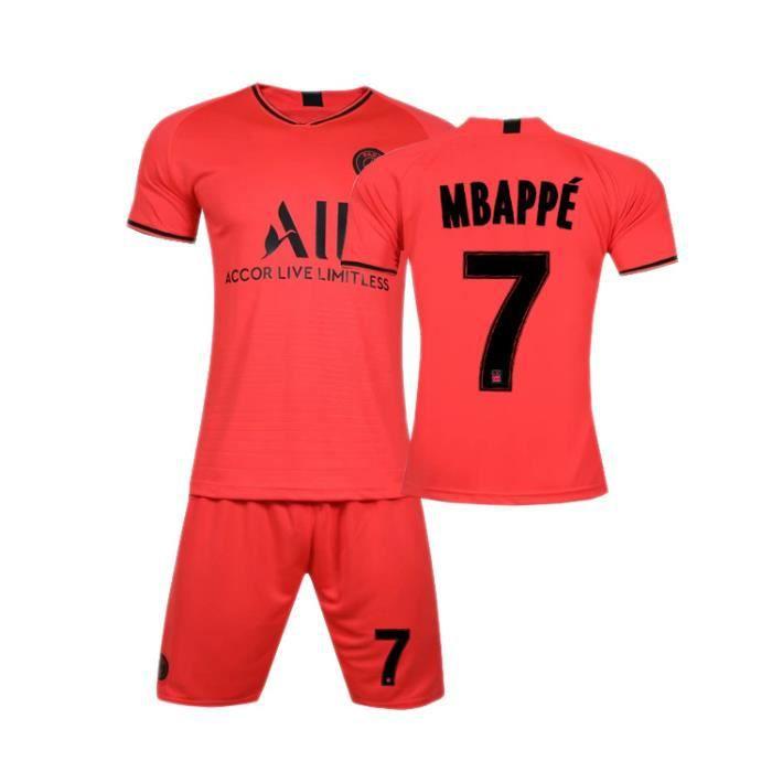 Maillot de football S19-20 Argent Paris Saint-Germain Ensemble de maillots de football Hommes Adultes Enfants Mbappe