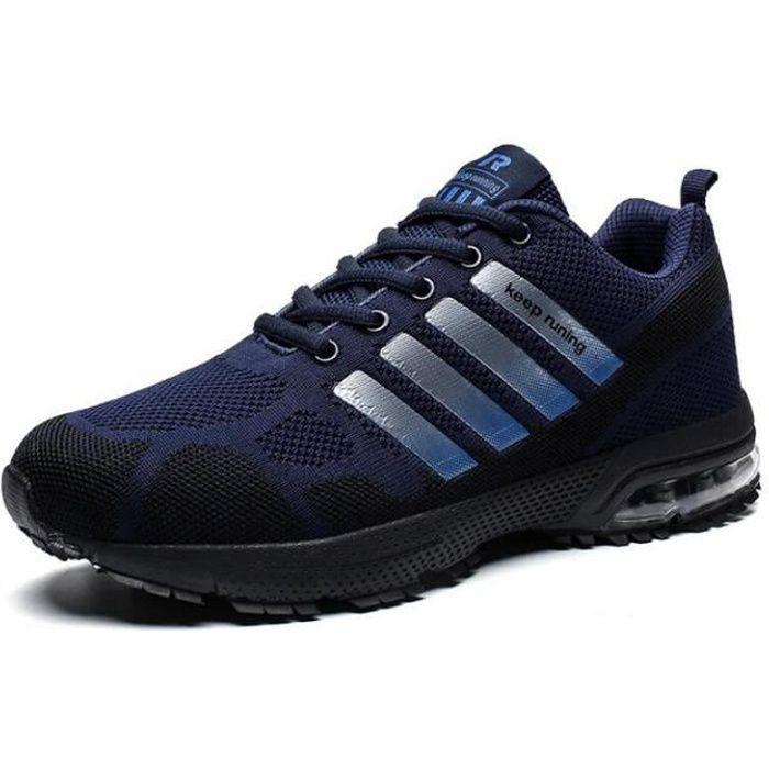 Hommes Chaussures De Course Baskets Bleu