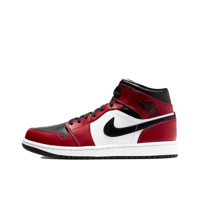 Basket Air Jordan 1 Mid Gym Red Chaussure de Sport AJ 1 Pas Cher pour 554724-069 Homme Femme