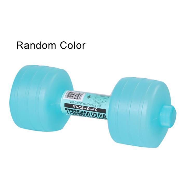 Water Dumbbell Haltères gonflables en plastique, remplis d'eau pour force de bras d'exercice dames haltères de fitness 26 * 10cm