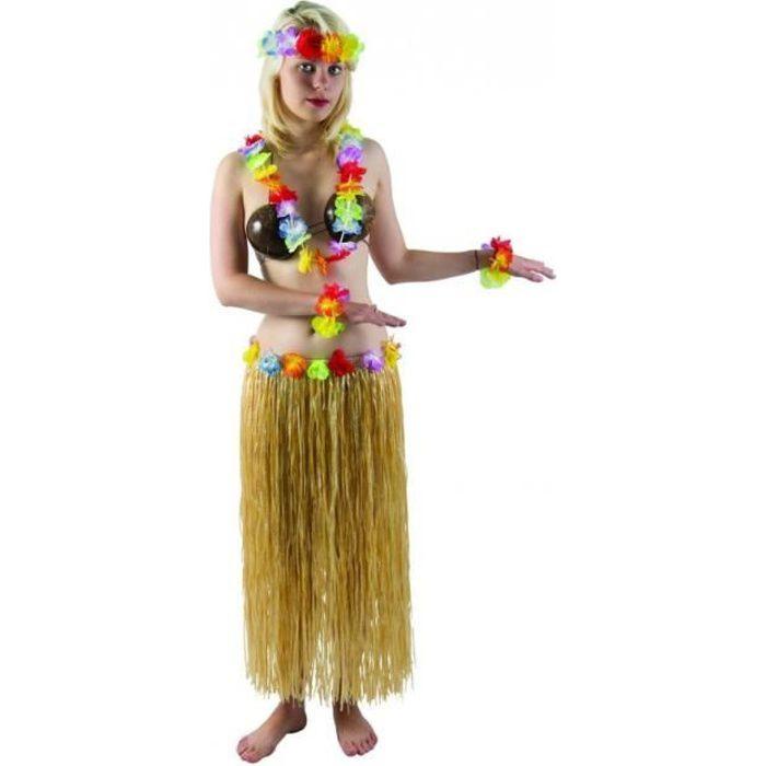 Autre Accessoire Deguisement Vendu Seul - Jupe hawaïenne pagne naturel