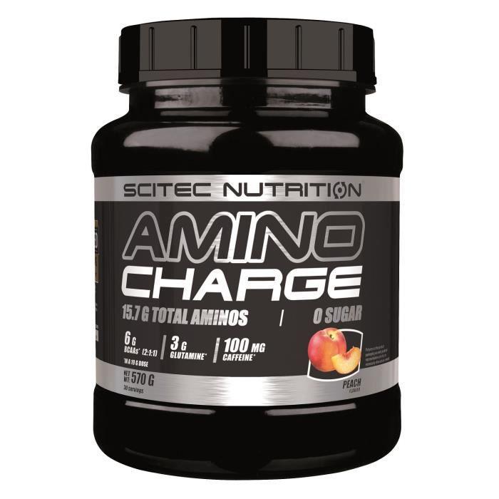 Amino Charge BCAA 570g Scitec - PECHE - Citrulline EAA Arginine Glutamine
