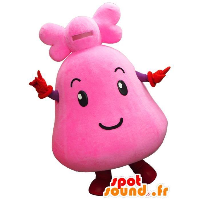 Mascotte SpotSound Cdiscount - Taille L - personnalisable de Kogomi chan, cloche rose géante, de Kyoto