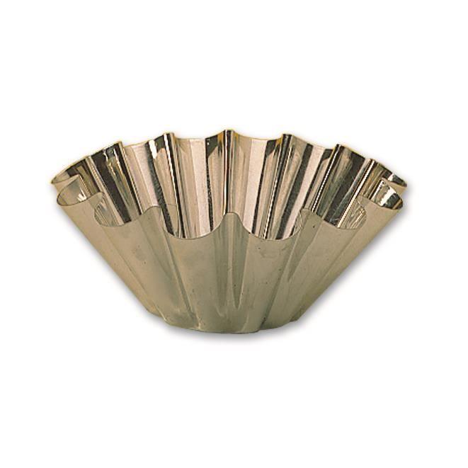 Moule à brioche 14 côtes professionnel en fer blanc à 160 mm de diamétre