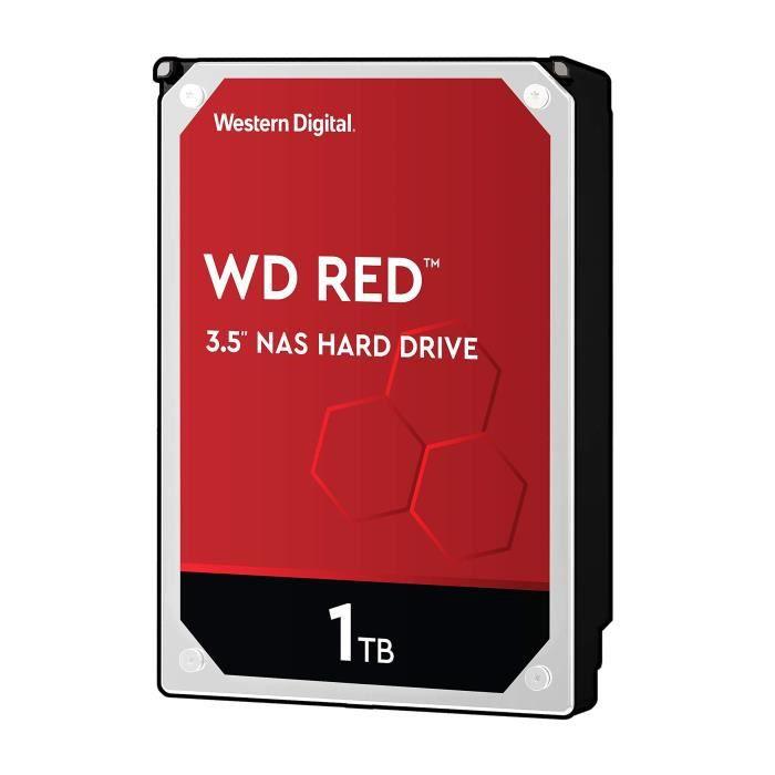 WD Red Kit Disque dur interne NAS 1 To 3,5 pouces SATA intellipower