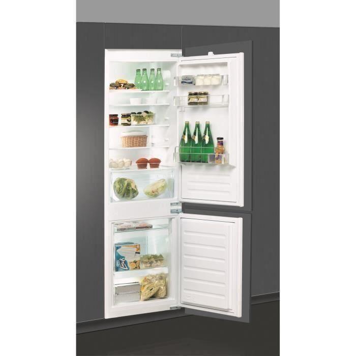 WHIRLPOOL ART65021 - Réfrigérateur congélateur bas encastrable - 275L (195+80) - Froid statique - A+ - L 54cm x H 177cm