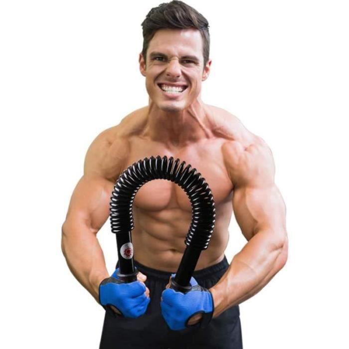 PC33847-Power twister Barre à Ressort avec résistance 30kg,Renforcement Musculaire Professionnel pour pectoraux et Bras Muscles,