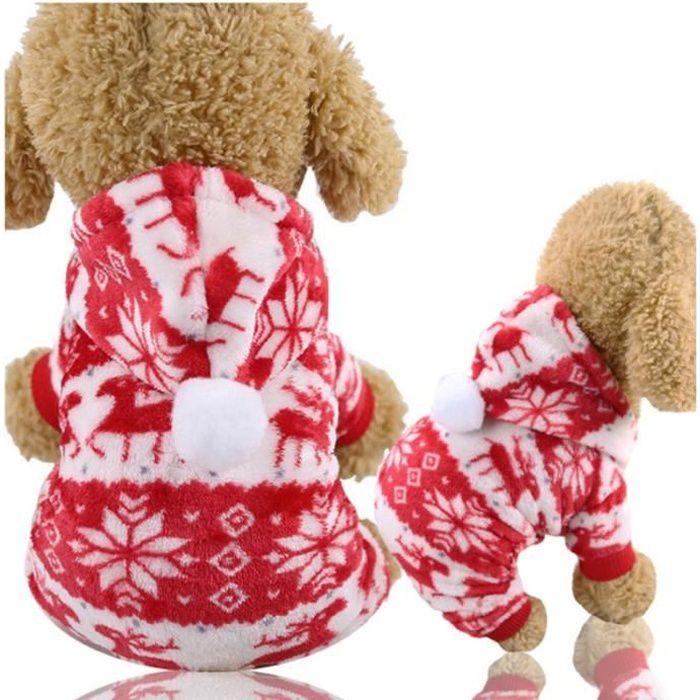 Color 10-XS -Vêtements de noël pour chiens - Manteau Chihuahua,Costume d'hiver pour petits chiens et grands chiens,vêtements d'ani