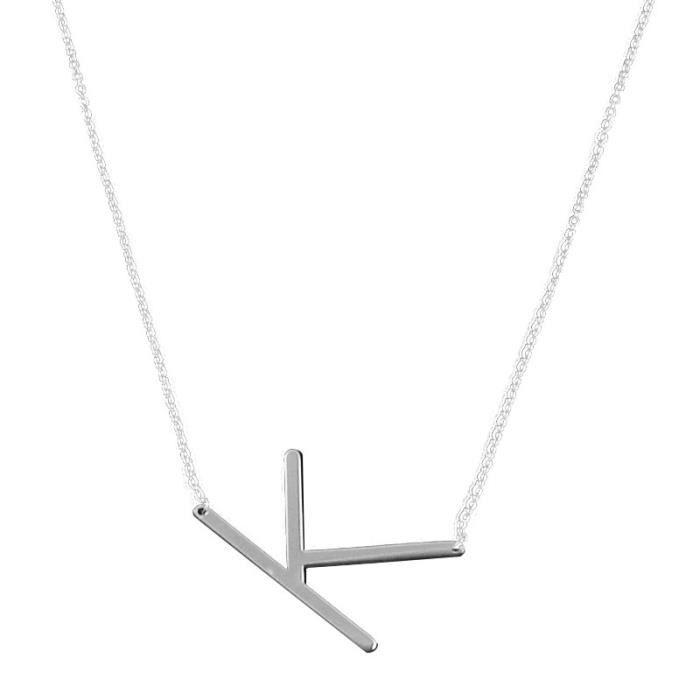 New Fashion Jewelry for women big 26 Lettre Colliers Pendentifs En Acier Inoxydable