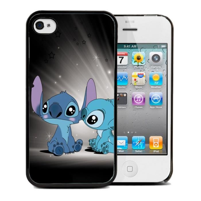 coque iphone 4 4s lilo stitch film protection achat. Black Bedroom Furniture Sets. Home Design Ideas