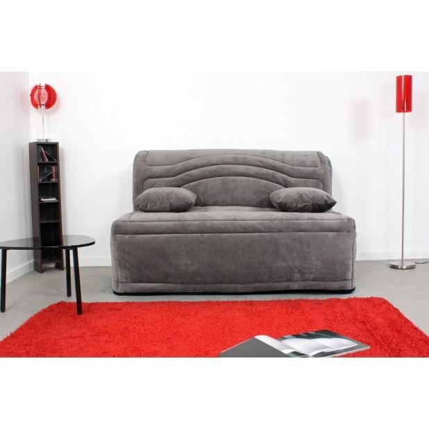 odeon banquette bz tissu grise matelas 160 cm achat. Black Bedroom Furniture Sets. Home Design Ideas