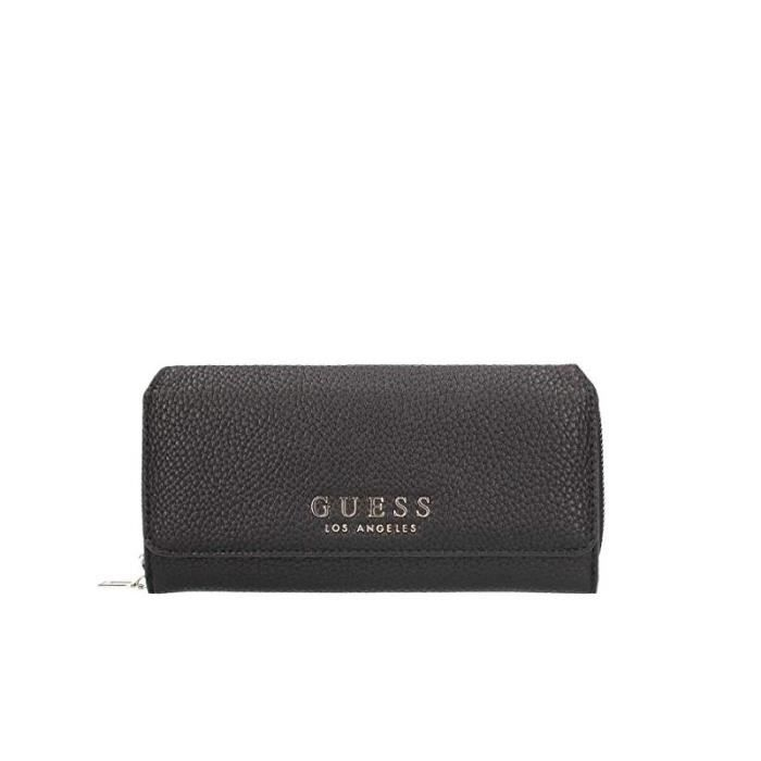Portefeuille Guess Brooklyn Slg Black Achat Vente Portefeuille
