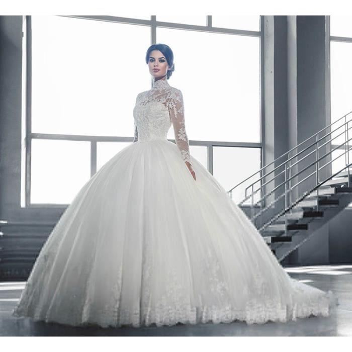 Haut Robe De Noiva Longue manches De Mariage