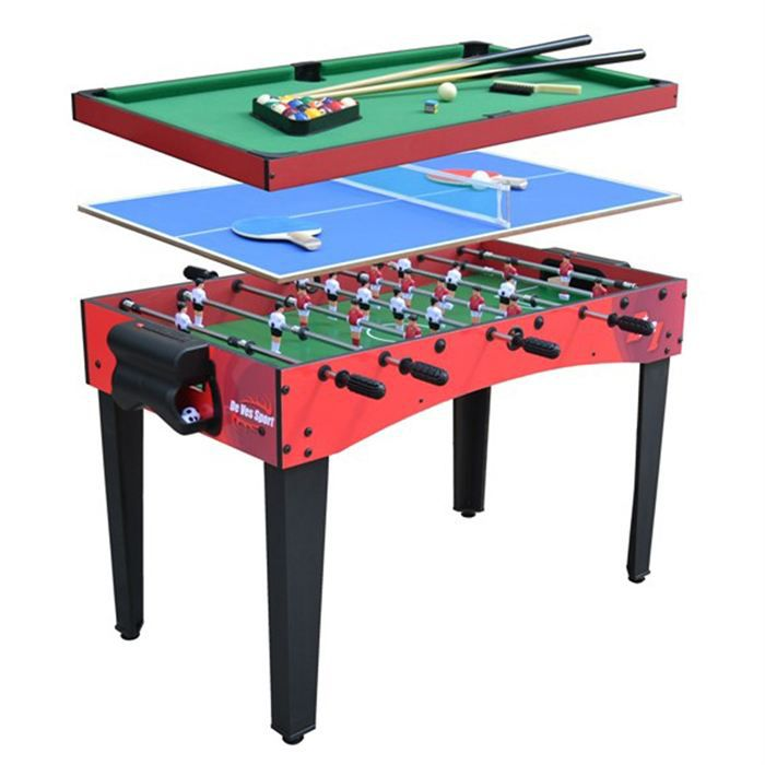 multijeux 3 en 1 billard baby foot ping pong achat vente table multi jeux cdiscount. Black Bedroom Furniture Sets. Home Design Ideas