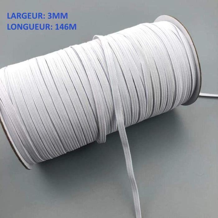 10 mm 5 m ou 10 m 1 m 13 mm-Couture PLAT Blanc à Cordon élastique 6 mm