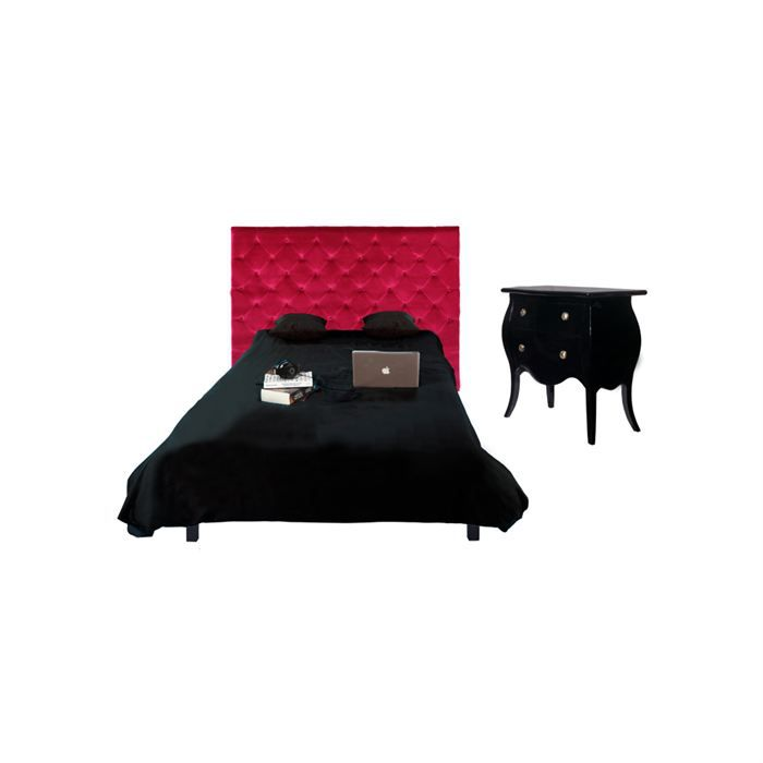 t te de lit fuschia chesterfield en velours 162cm achat vente t te de lit t te de lit. Black Bedroom Furniture Sets. Home Design Ideas