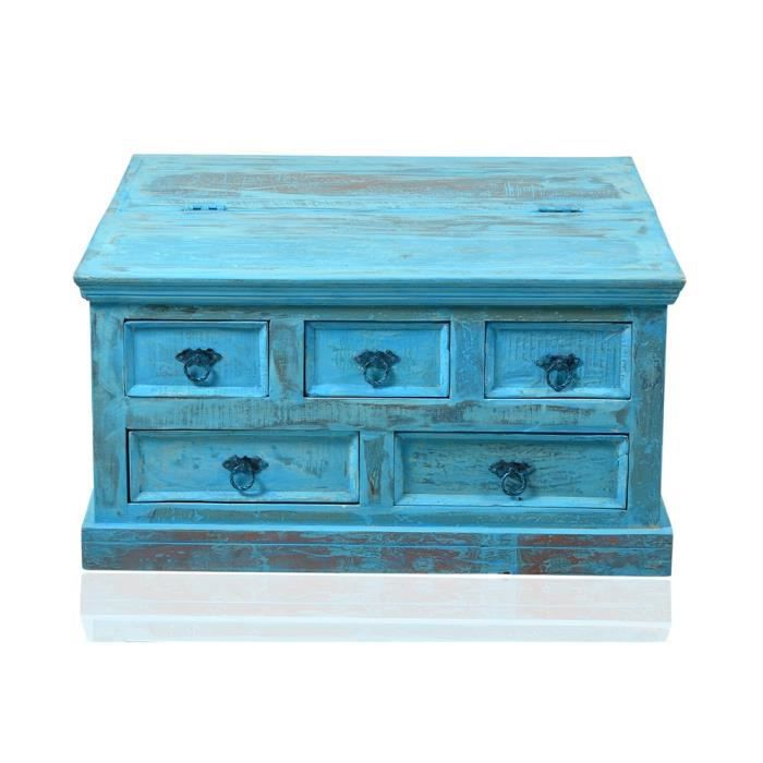 table basse swithome blue bois bleu achat vente table basse table basse swithome blue b. Black Bedroom Furniture Sets. Home Design Ideas