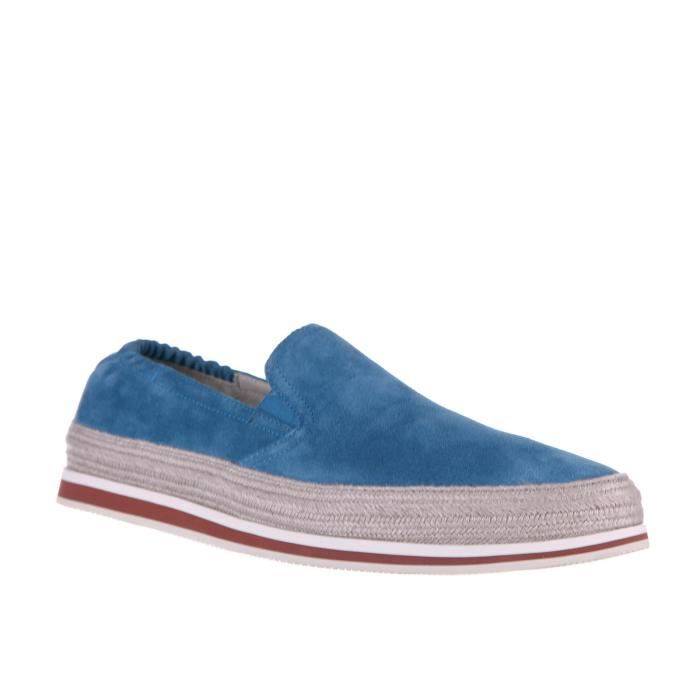 Slip on homme en daim sneakers Prada