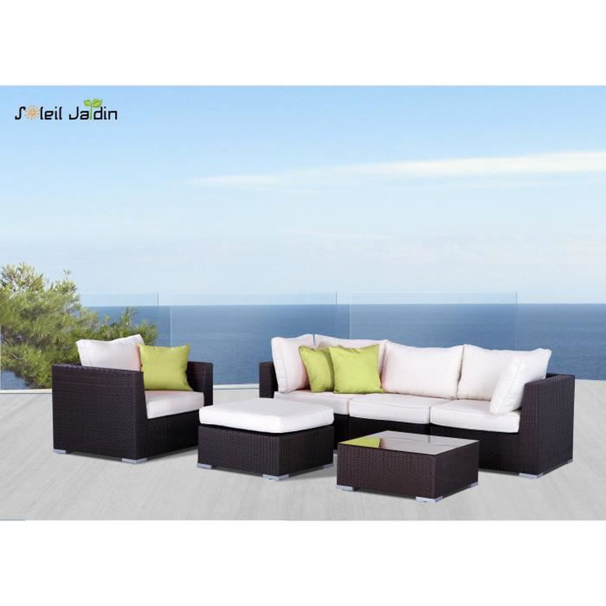 salon de jardin resine tressee cdiscount maison design. Black Bedroom Furniture Sets. Home Design Ideas