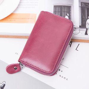 Cuir portefeuille porte-monnaie portefeuille billet sac Femmes Hommes peau de vache NEUF